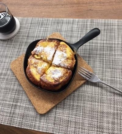 ミニパンで焼いたフレンチトースト