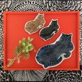 KATAKATA  印判手豆皿 トラ猫 / 黒猫