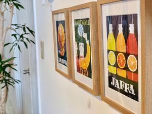 オレンジジュース(左)ハット(中央)レモネード(右)