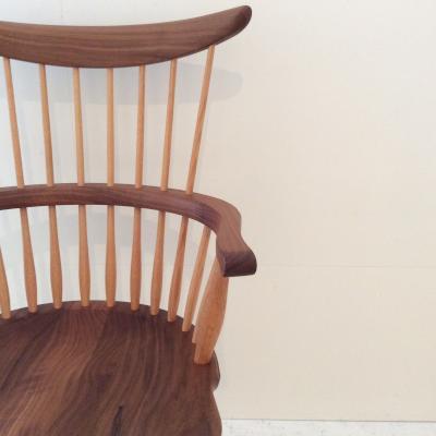 comb back armchair
